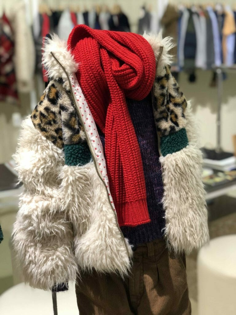 A great collection at American Outfitters for FW19 using unusual combination mixed together such as the leopard and faux shearling here