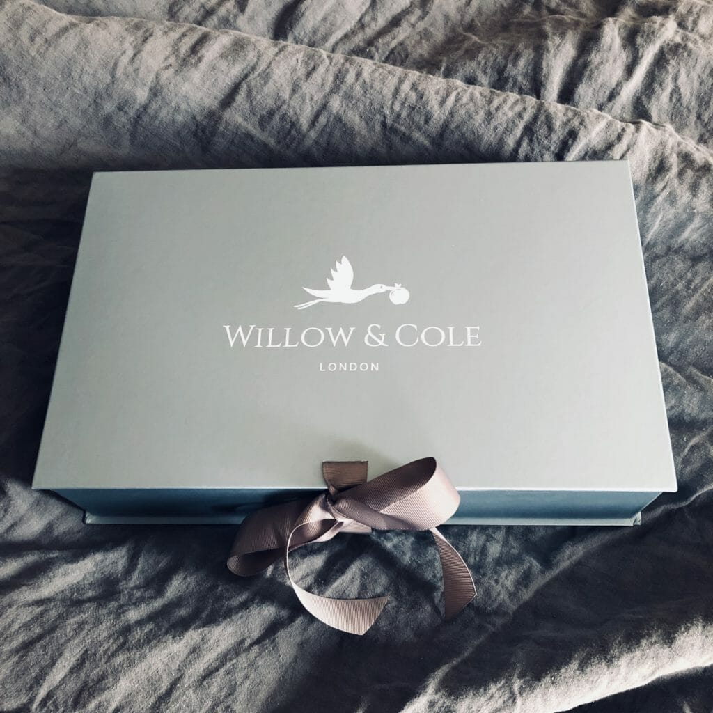 Beautiful baby luxury gift boxes by Willow & Cole