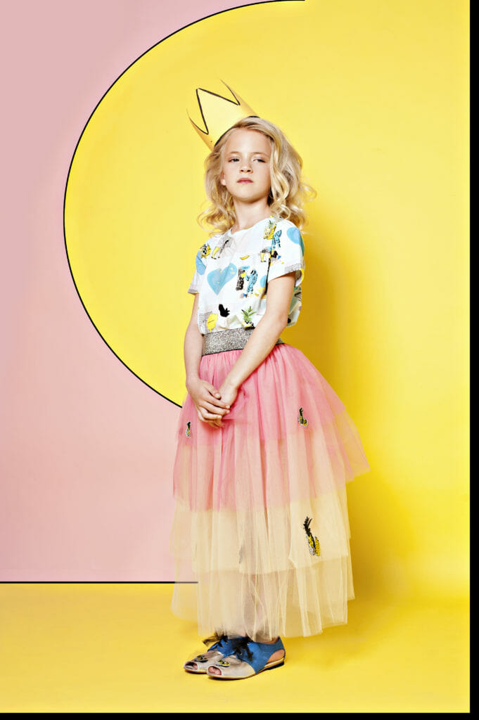 Beautiful tulle party skirt by EFVVA kids fashion for spring/summer 2019