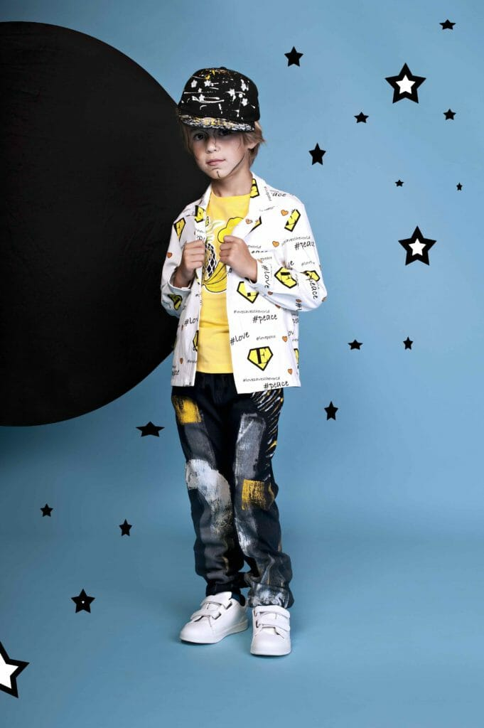 Handpainted jeans by EFVVA for boys fashion summer 2019