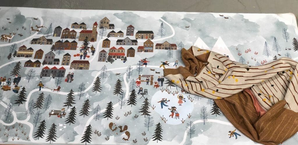 Scenic winter play mat from Dutch label Byalex who produce ethical and sustainable products