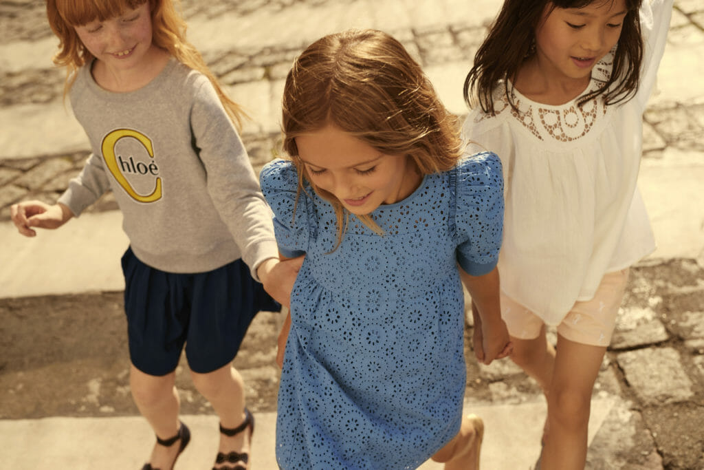 Sweet feminine looks are a signature for the Chloe kids fashion label
