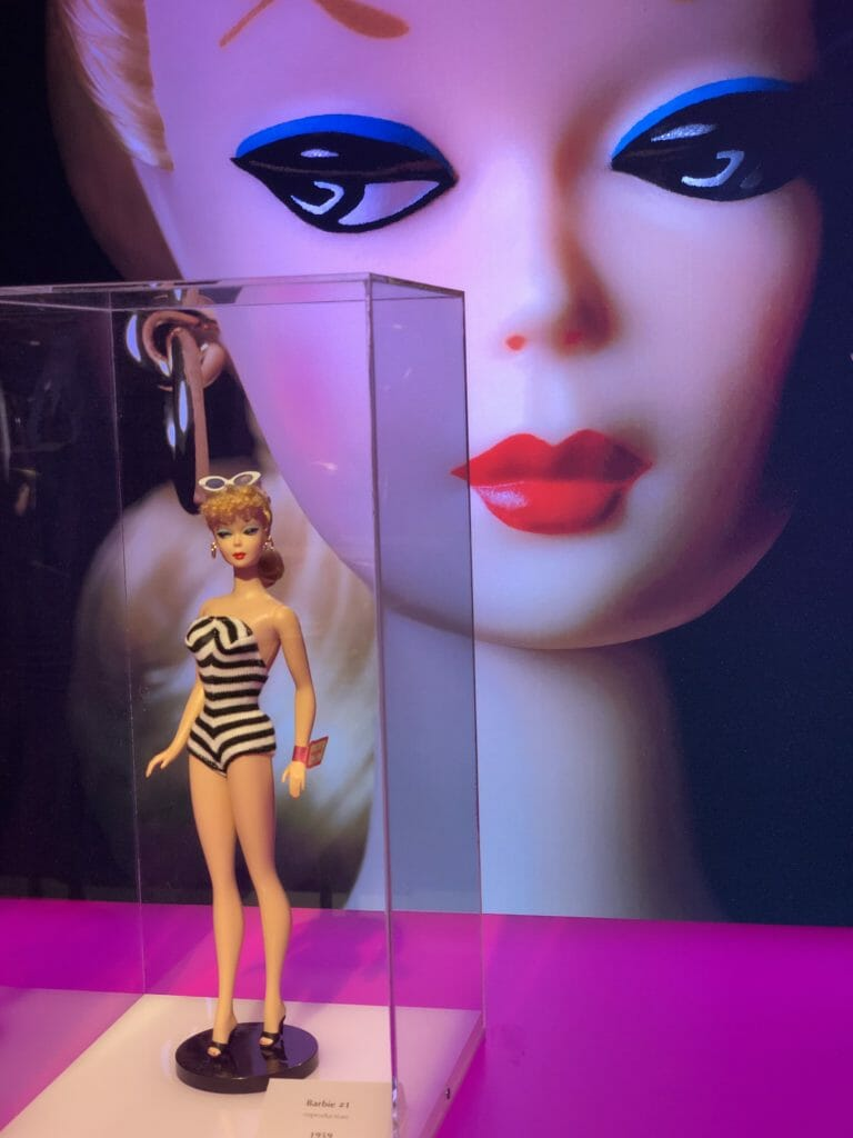Reproduction of the very first Barbie doll ever issued in March 1959