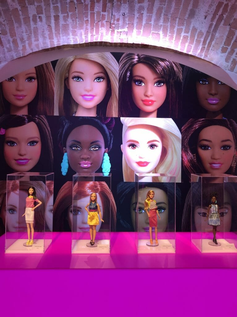 Modern Barbies also now have a wide range of diversity