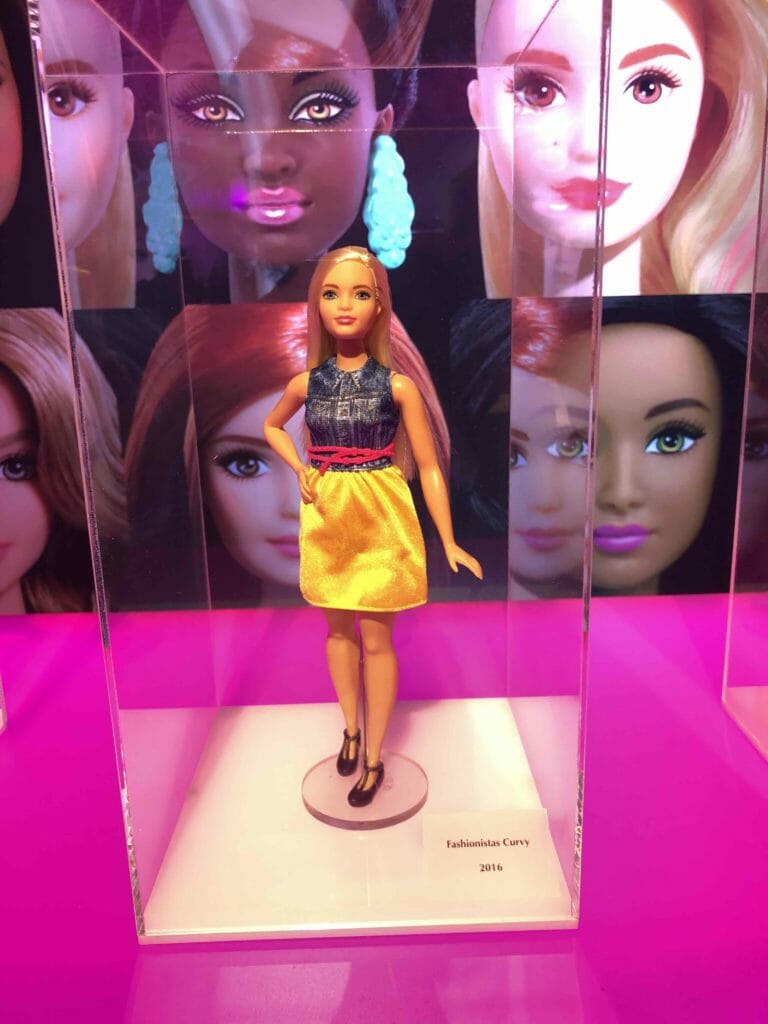 Increasingly complaints have been made in recent years about Barbie's anatomically impossible figure so in 2016 a fashionista curvy line was launched