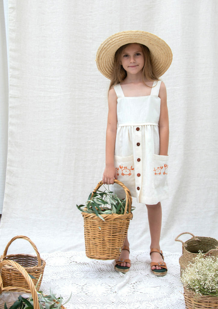 Embroidered details at Kokori Kids Nature collection for S/S19