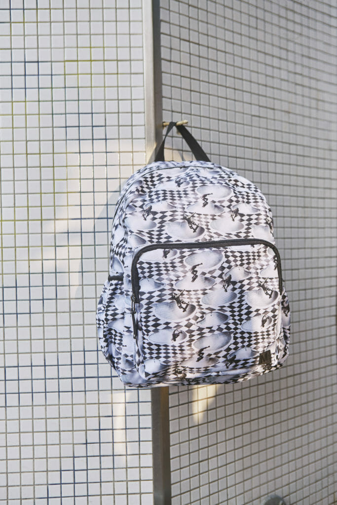 The collaboration has matching backpacks too