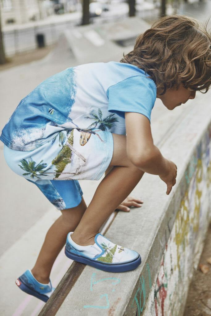 Surf print Vans and Molo shorts for boyswear summer 2019