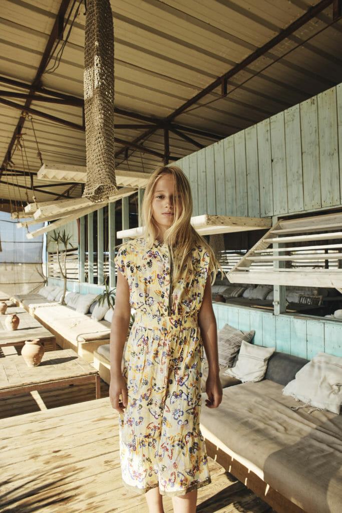 Teen girl prairie dress at Zadig et Voltaire SS19