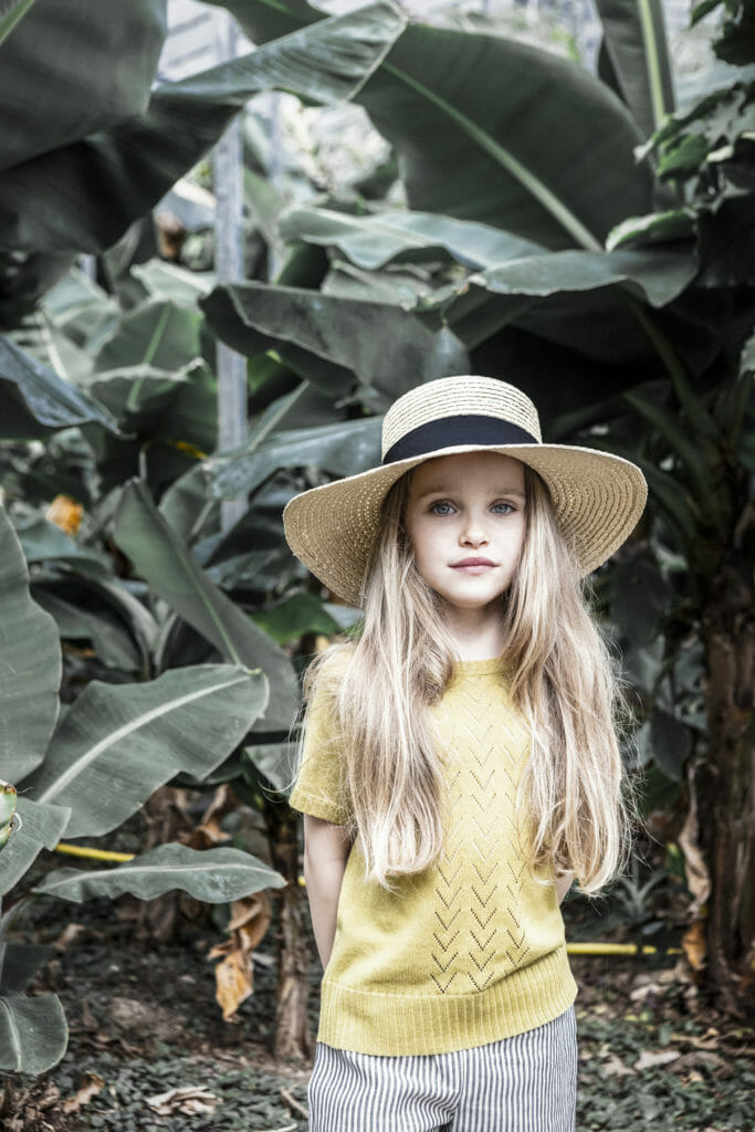Simple classic sustainable kids knits by As We Grow in this summer's popular yellow shade