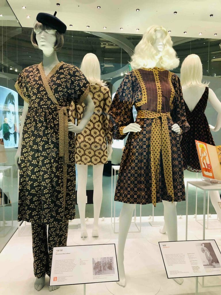 Another influence on Mary Quant was Japan, kimono inspired outfits from 1975