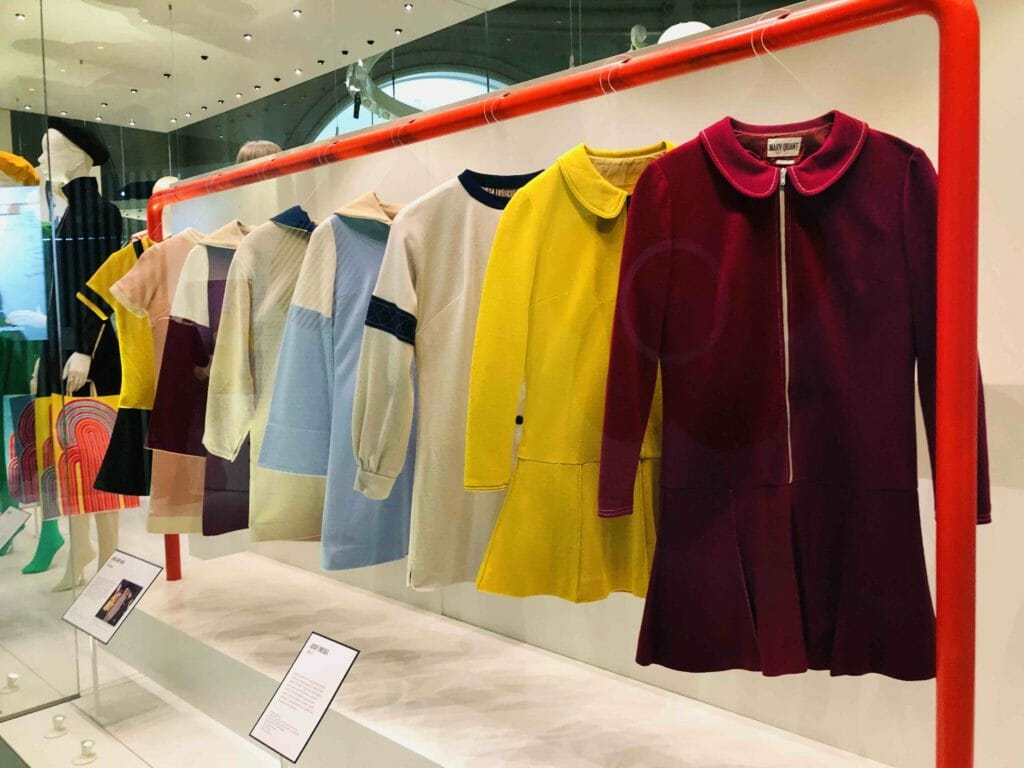 Quants jersey mini dresses became her signature style exemplified by this 1967 line-up