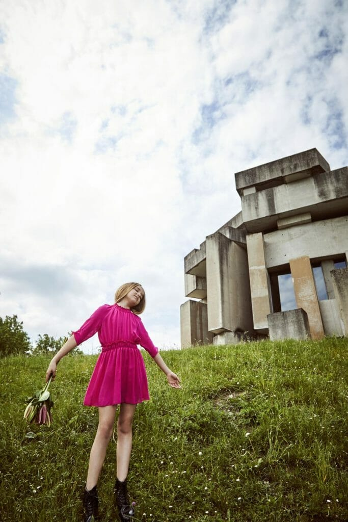 The campaign was shot at the incredible Modernist church Wotruba in Vienna