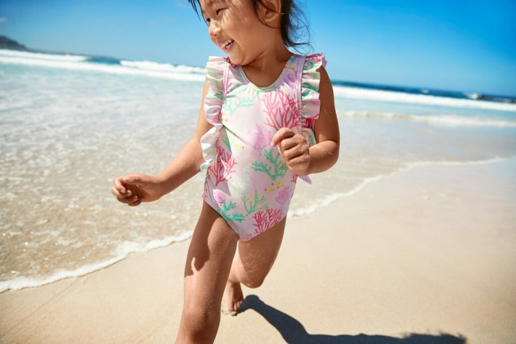 Kids swimwear from recycled plastics at Marks and Spencer