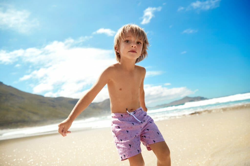Boys recycled swim shorts from Marks and Spencer for summer 2019