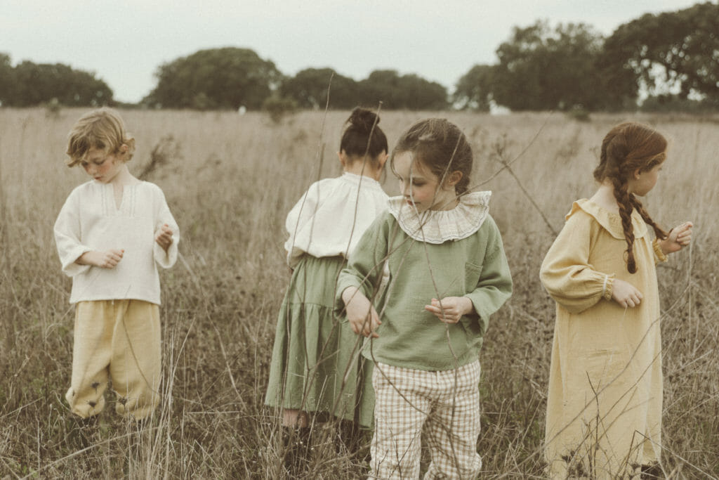 Frilled collars and flounced skirts are simple but signature styles at Liilu from Germany