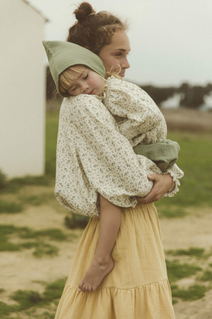 Beautiful organic organic mom and child wear by Liilu with an edited womens line to co-ordinate with the children