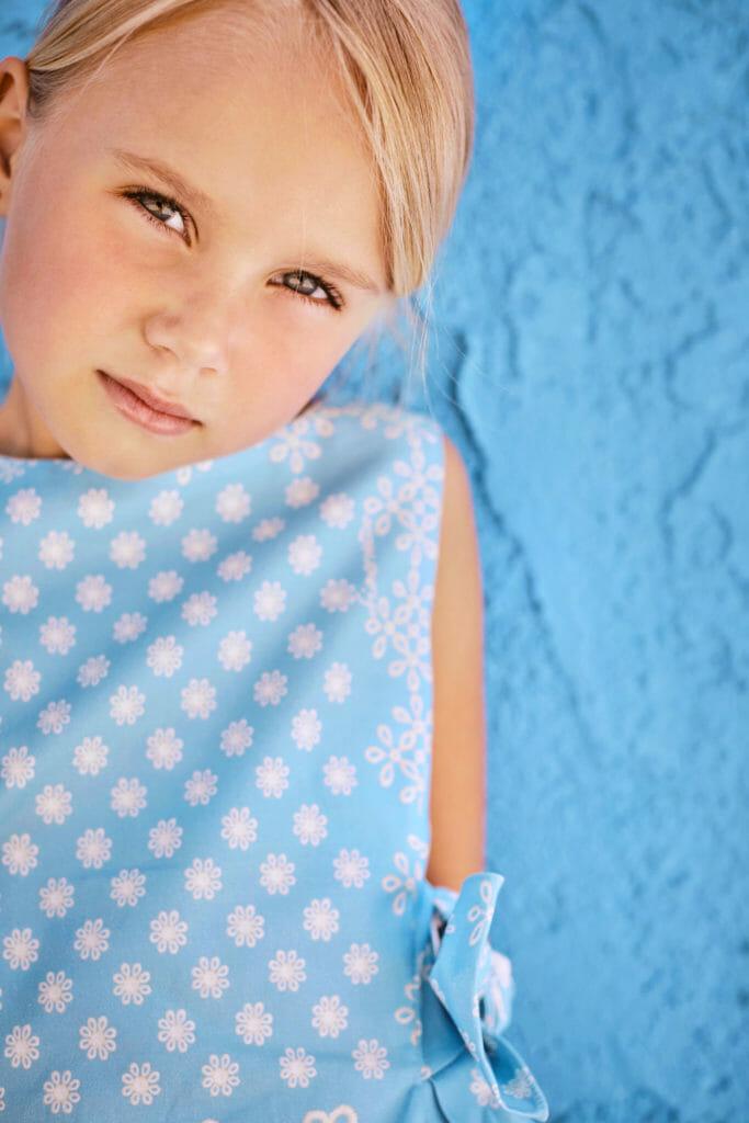 Model Rachel Shevchenko shot by Abi Campbell, styled by Angel Tailan