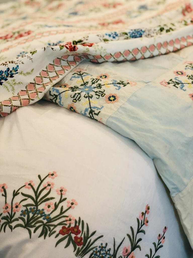 Delicate vintage style bedding by Their Nibs for FW19