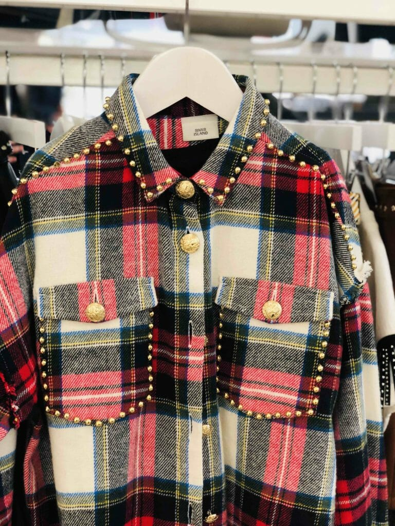 At the kids fashion press shows for FW19 this week this River Island shirt stood out with its glam take on the plaid trend thats all over the kids collections for the autumn