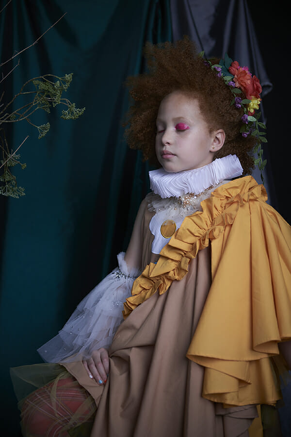 Ruffled modern kids fashion with a historical air shot by Brian O'Hanlon