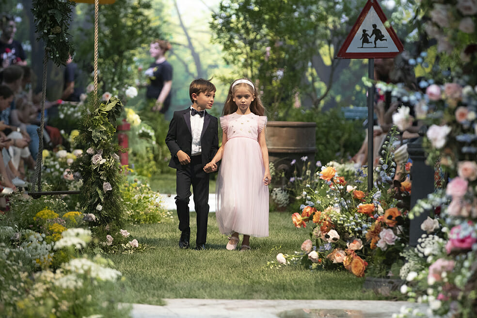 Ceremony dressing from Il Gufo for summer 2020 kidswear Italian style