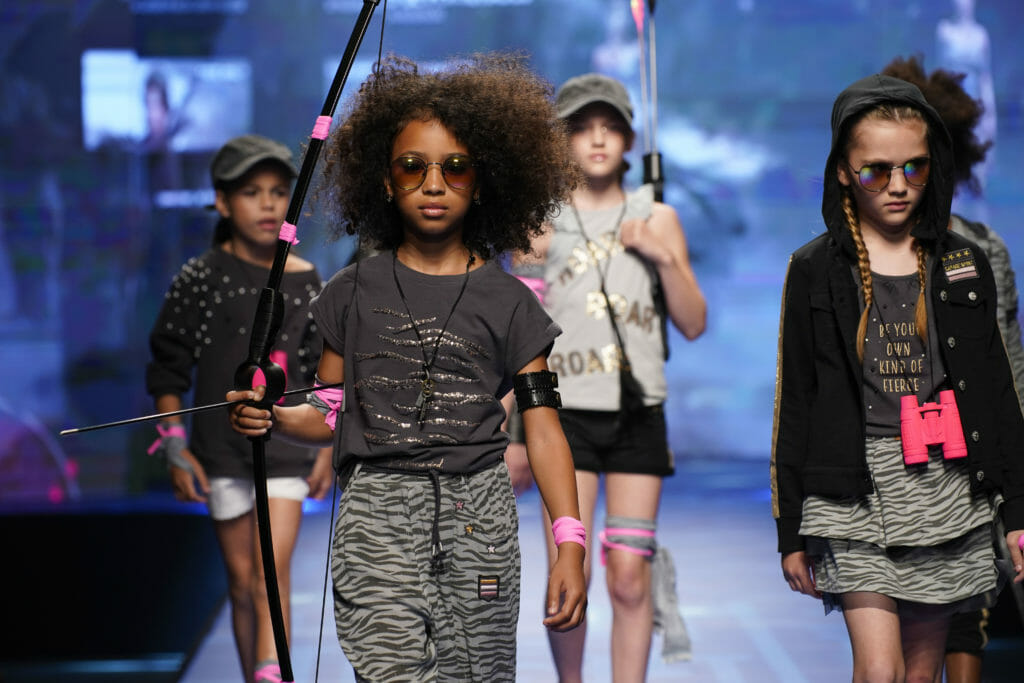 Dark decorated streetwear style at Boboli in Kids Fashion from Spain summer 2020 preview catwalk