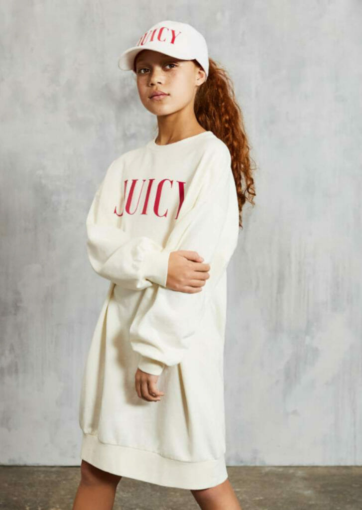 Juicy logo style for summer 2019girls fashion
