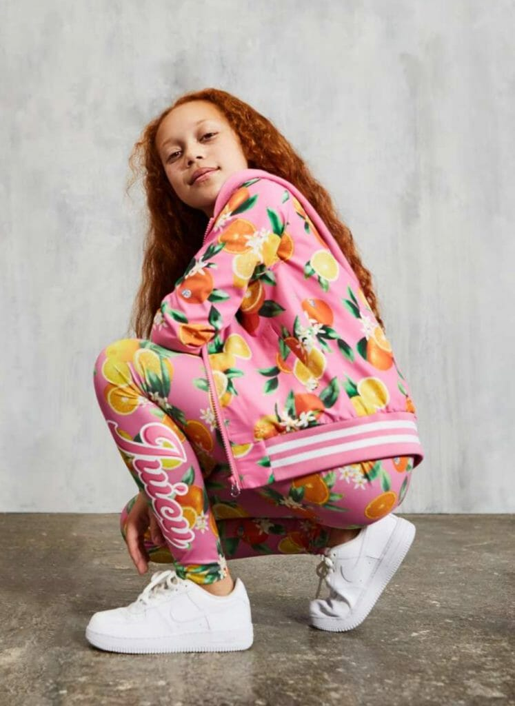 Fruity prints for the new track suit at Juicy Couture summer 2019