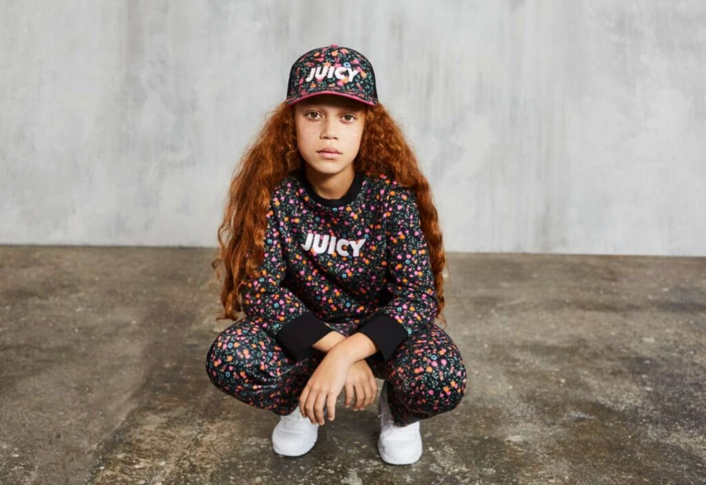 Sports style trends with ditzy florals at Juicy Couture for S/S 2019