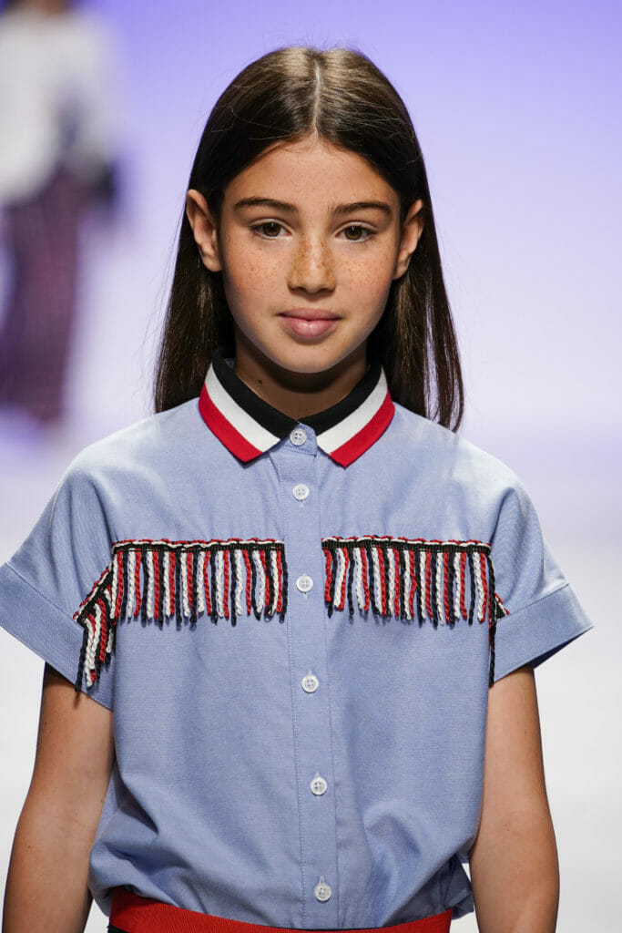 Kids fashion trends SS20 at Manila Grace with Military style fringe details