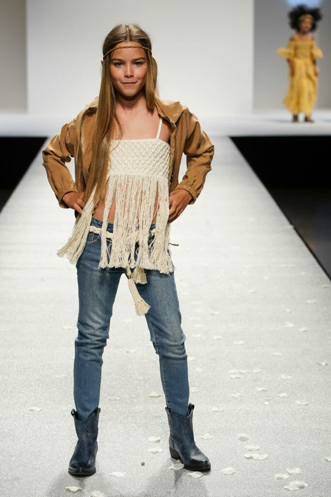 Crochet and fringing Coachella style for girlswear at Manila Grace
