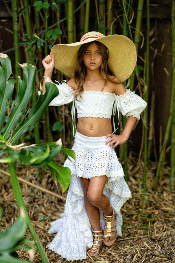 The frilled and ruffled skirts are inspired by the styles of Cuba at Rebel Republic