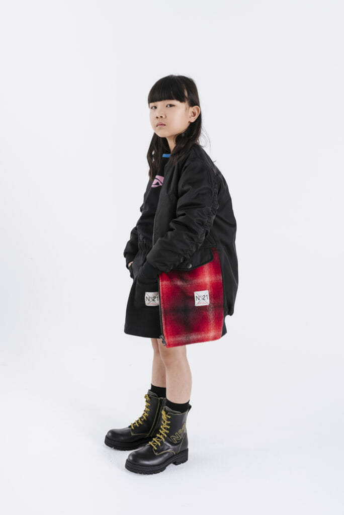 Cool Italian style for kids fashion brand N21 featured in a Pop-Up store at Harrods