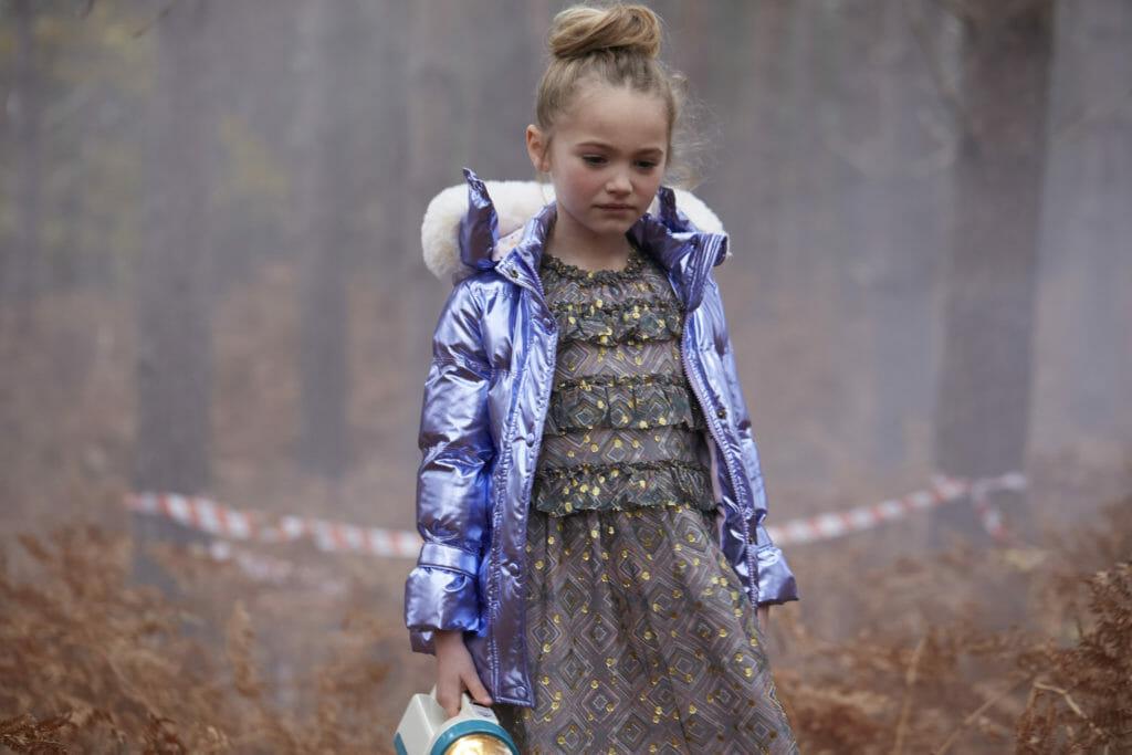 Lurex cotton prints and metallic jackets for Velveteen FW19 kids fashion