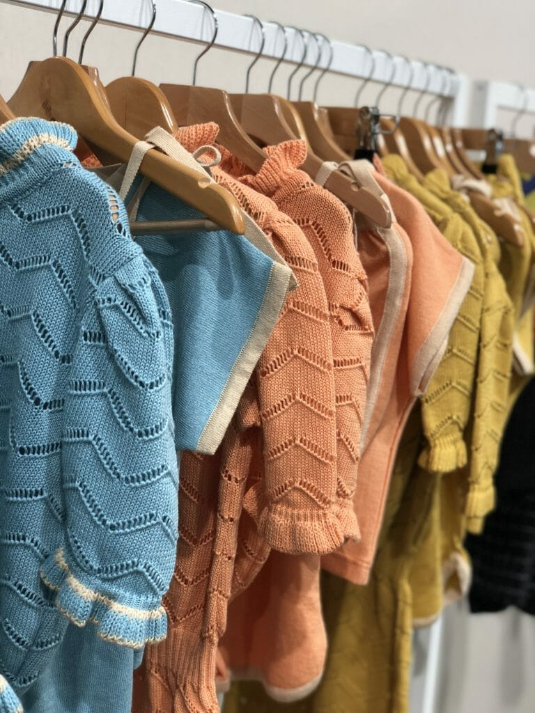 Kids fashion from Playtime Paris shows a great selection here with lightweight Pima cotton knits at Kalinka