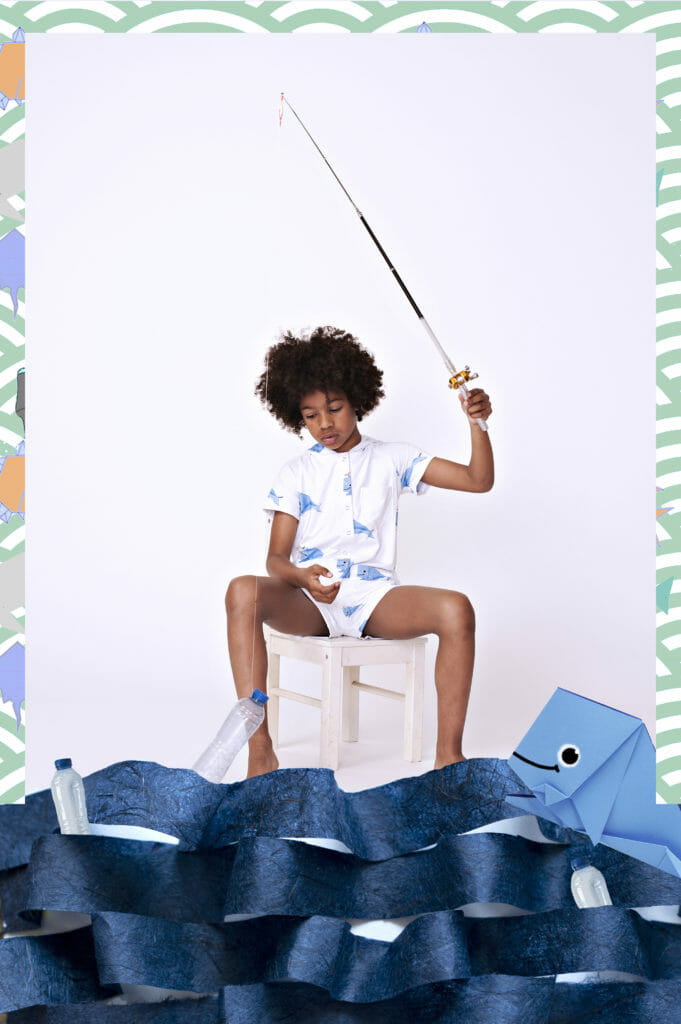 Whale print boys fashion by EFVVA for SS20 presenting at Tokyo Playtime and CHIC Shanghai