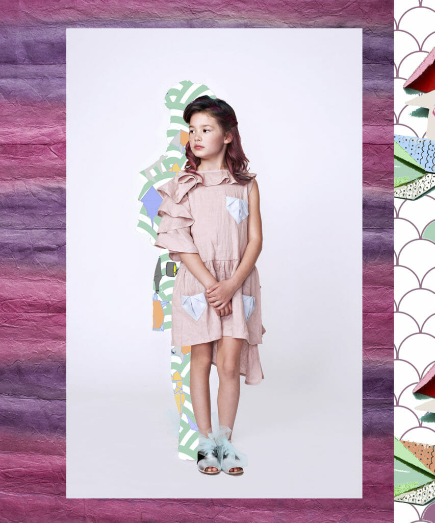 Origami details for EFVVA summer 2020 kids fashion