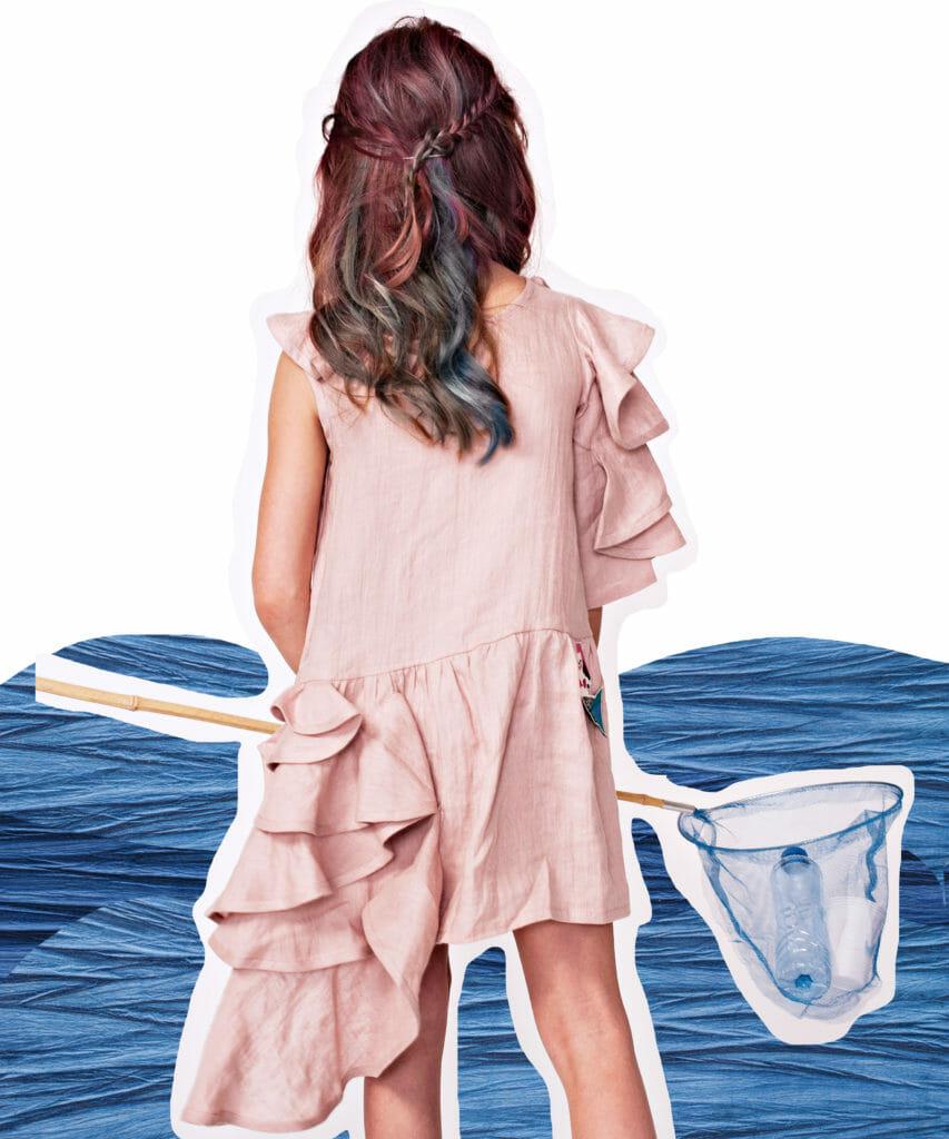 Unique ruffle cut dress by EFVVA a sneak peek of summer 2020 kidswear