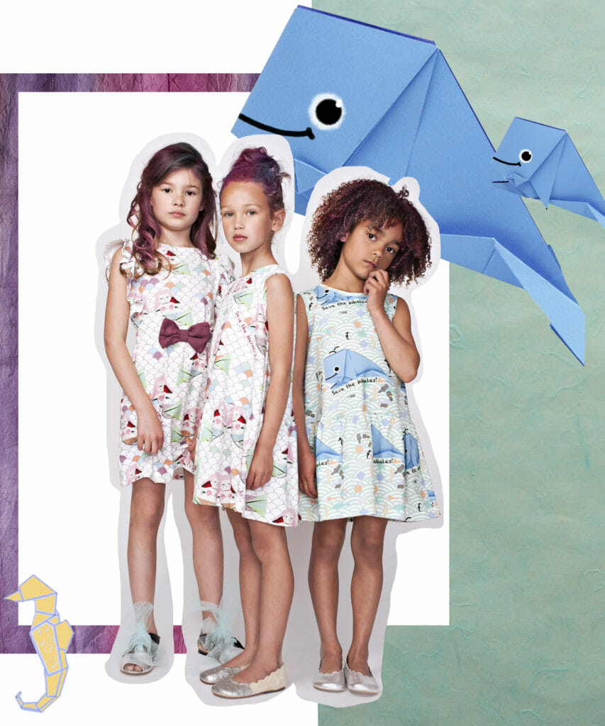 So cute 'Save The Whale' prints for summer 2020 by Polish label EFVVA