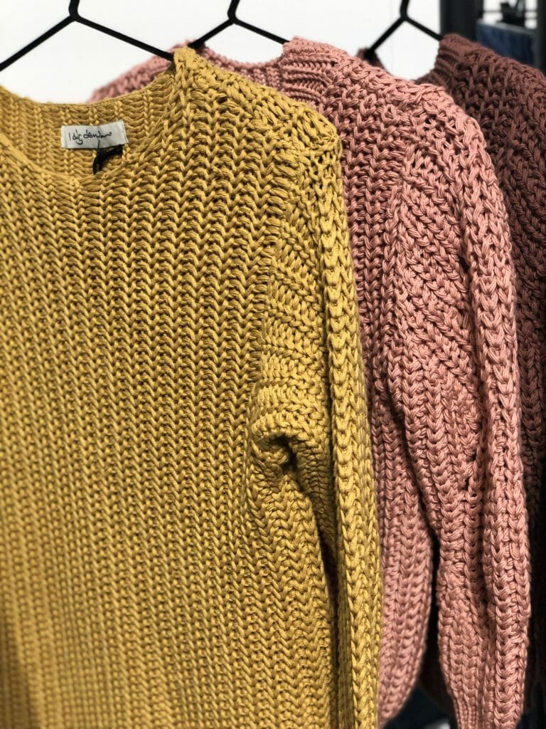 Chunky cotton knitwear at I Dig Denim for girls and adults summer 2020