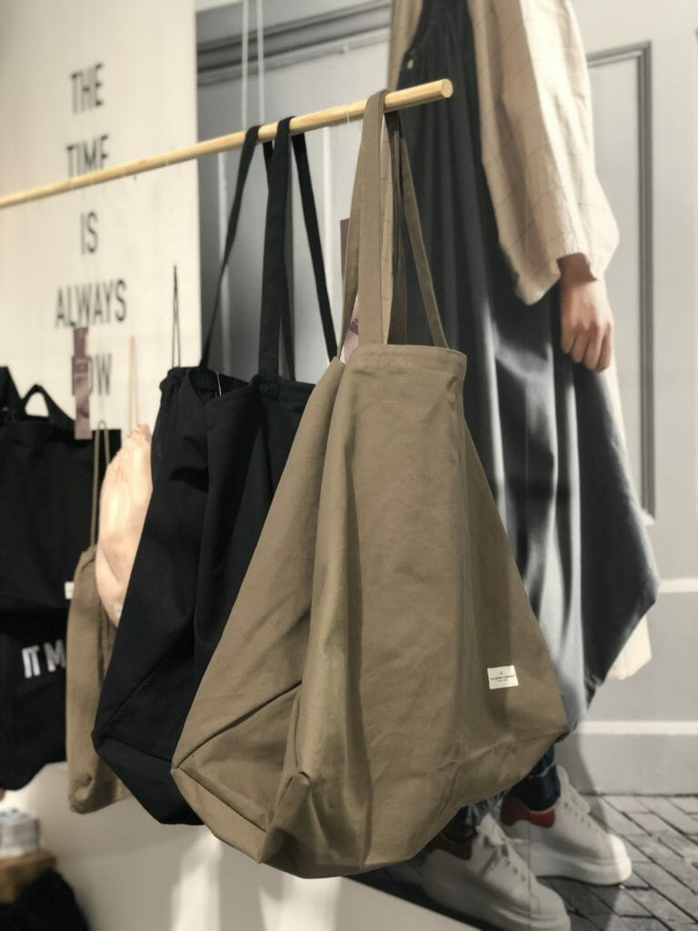 Mega Ikea sized canvas bags by The Organic Company at CIFF Youth 2020 kids fashion trade show