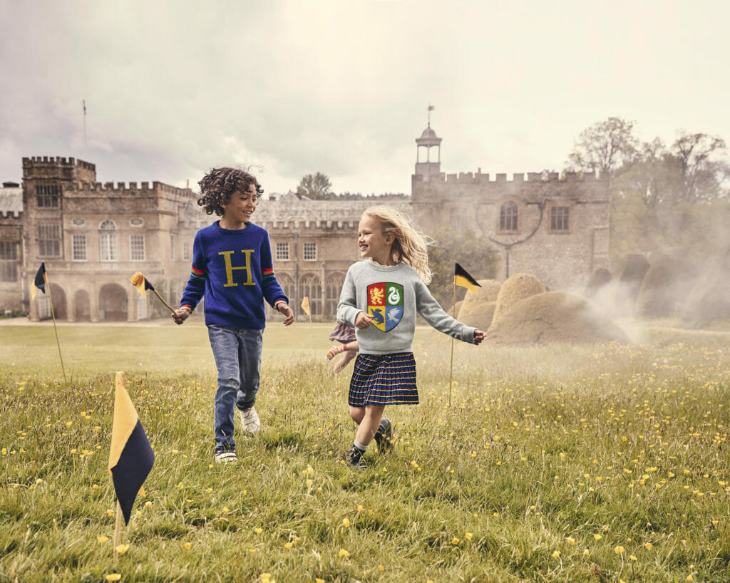 Harry Potter kids fashion collaboration by Mini Boden and Warner Brothers for autumn 2019