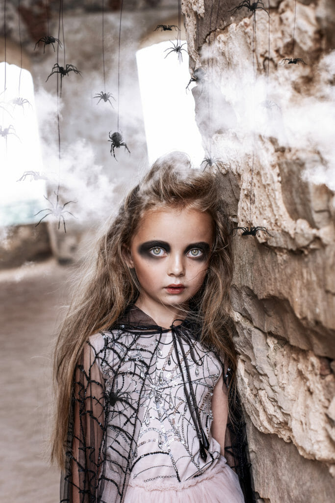 Spider embroidered Halloween theme fashion at Tutu du Monde for fall 2019