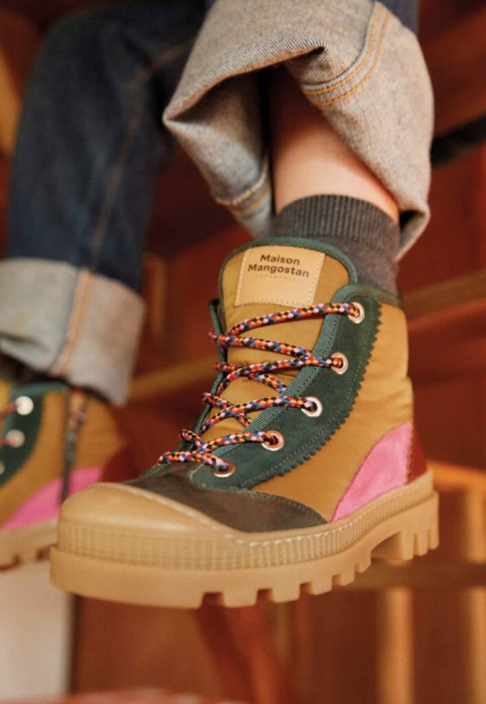 The hiking boot at Maison Mangostan for winter 2019 kids footwear