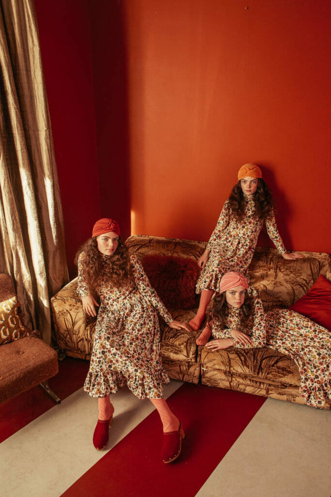 Retro style print dresses by The Middle Daughter styled by Tracey Jacob for winter 2019