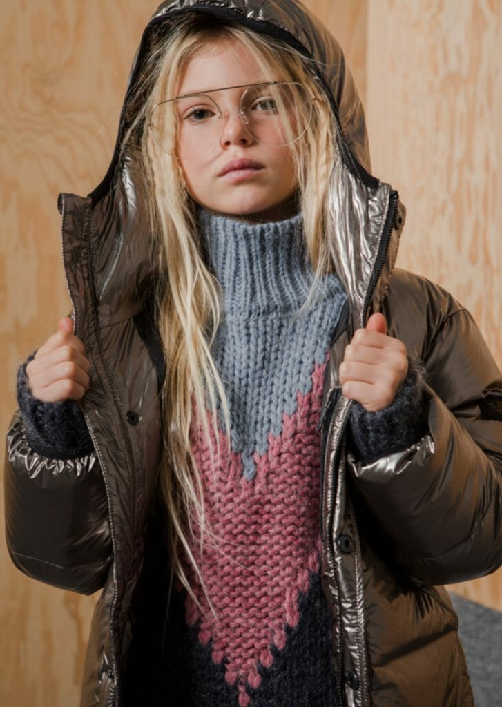 Metallic shades of padded jackets reigned supreme for fall/winter 2019 in kids fashion