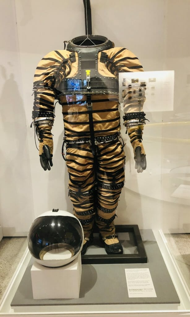 Prototype Mars spacesuit by Gary l Harris and Dr de Leon at the University of North Dakota