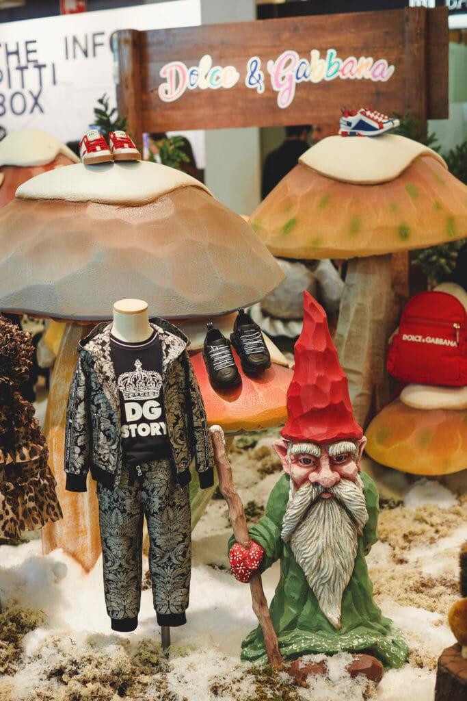 Winter Wonderland gnomes from Dolce & Gabbana at Pitti Bimbo winter 2019
