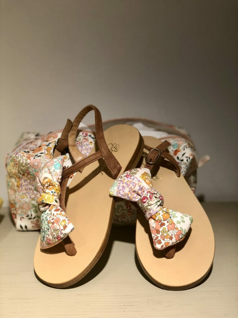 Sweet footwear to accessorise the floral dresses at Bonpoint summer 2020